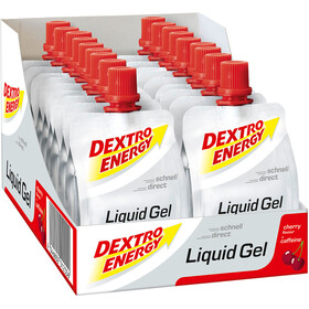 Dextro Energy Sachet de gels liquides 18x60ml, Cherry with Coffein